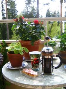Morgonkaffet är en höjdpunkt