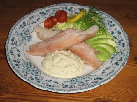 Smaken påminde nästan om rökt ål, så fet var siken