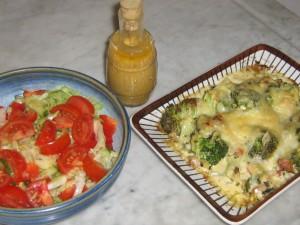 Ostgratinerad Broccoli med Rökt Fläsk