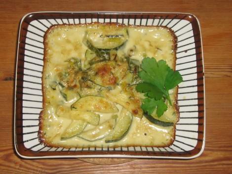 Ädelostgratinerad Zucchini