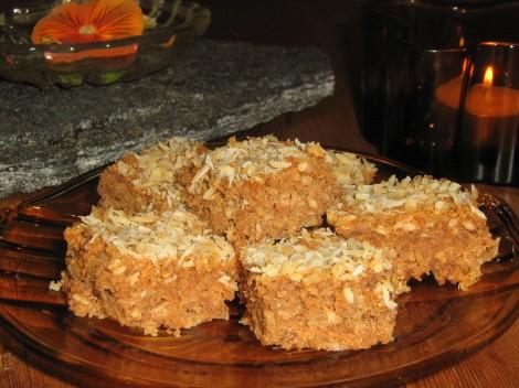 Nötkakor med Kokos är bra Lchf-kakor