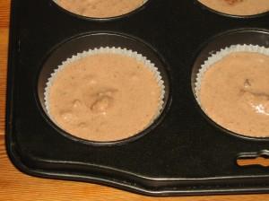 Muffins med Nötter, Kokos, 70% Choklad, Sesamfrön och Kakao. Mjölfria