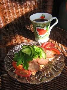 Smörgås och kaffe