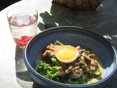Low-Carbonara med Broccoli