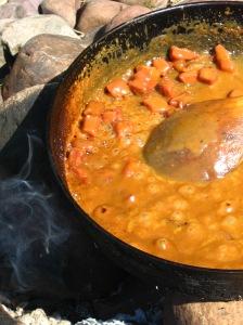 Kokning av Messmörduppa till Kolbotten