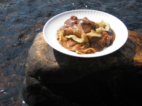 Kolbotten med messmörduppa. Gammal traditionell mat från Norra Dalarna