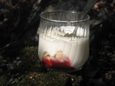Kittelbergets Yoghurt med Körsbärskompott och rostade Hasselnötter