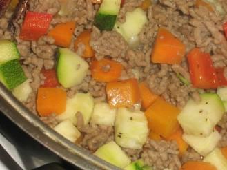 Köttfärssås med säsongens Grönsaker