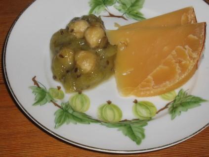 Holländsk ost, Beemster VO med Krusbärssylt