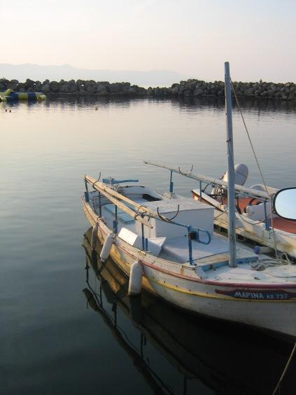 Hamnen i Platanias