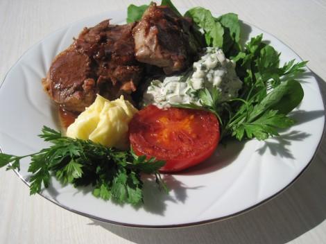 Lammkotletter med Mynta och Zucchinisallad