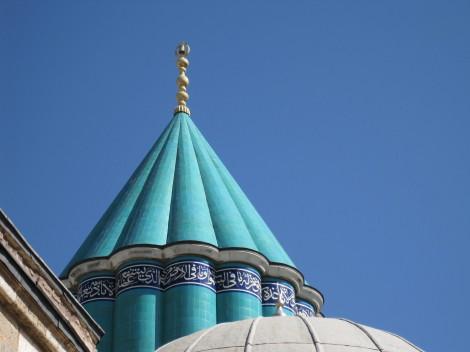 Moskén vid Mevlana-museet i Konya, Turkiet