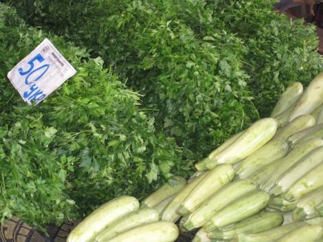 Zucchini och Bladpersilja