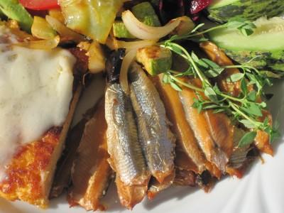 Äggkaka med sardiner