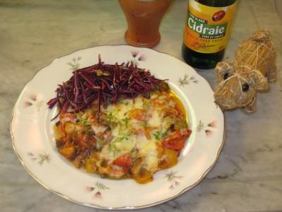 LCHF Pizza med Rödkålssallad