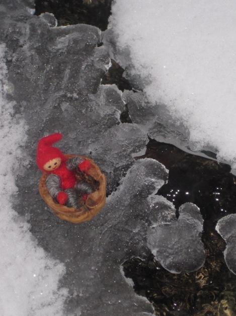 Tomte på hal is