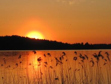 Solnedgång över Klämmingen