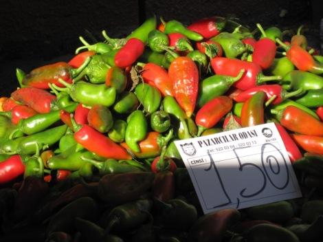 Paprika på Turkisk marknad
