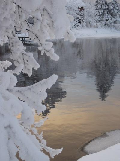 Vinterbild från Faxån