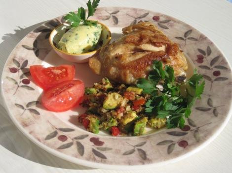 Kycklinglår med Blomkålsris och Västerbottenssmör