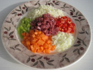Ingredienser till Risotto Lowcarb