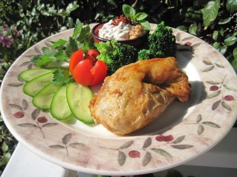 Grillad Kyckling med Valnötsröra och Broccoli