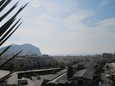 View from the rooftop restaurant at Alanya Can Hastanesi