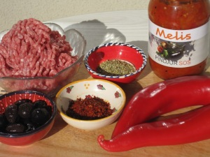 Ingredienser till Turkisk Köttfärsröra