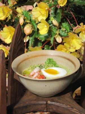 Soppa med Broccoli, Räkor, Kräftor och Västerbottensost