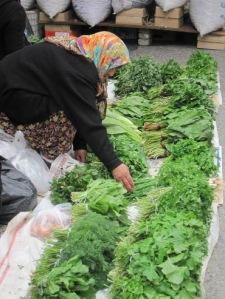 Örtförsäljerska på Fredagsmarknaden