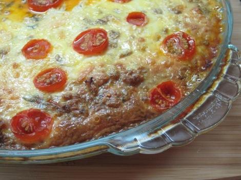 Lasagne med Aubegine, Halloumi och Mangold