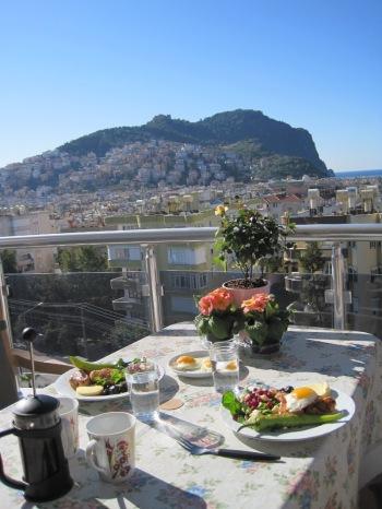Utsikt från vår balkong