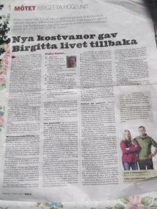 Om Birgitta Höglund i Länstidningen