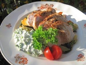 Kalkonbröst med grönsakswok