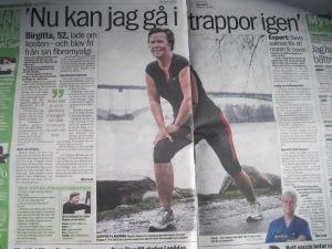 Birgitta Höglund om Fibromyalgi i Aftonbladet