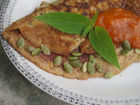 Pannkaka med kanel och havtorn