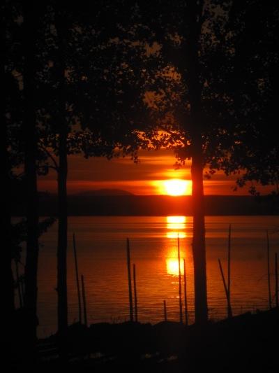 Solnedgång på Norderön, Storsjön