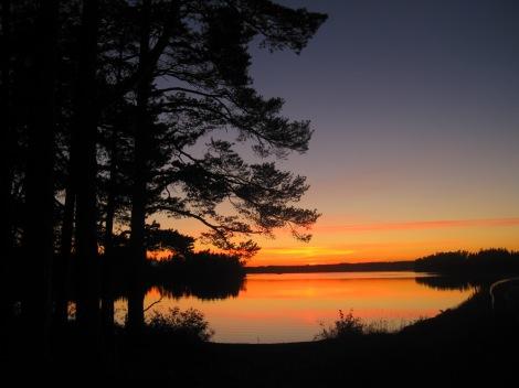 Solnedgång vid Sunne Kyrkoruin