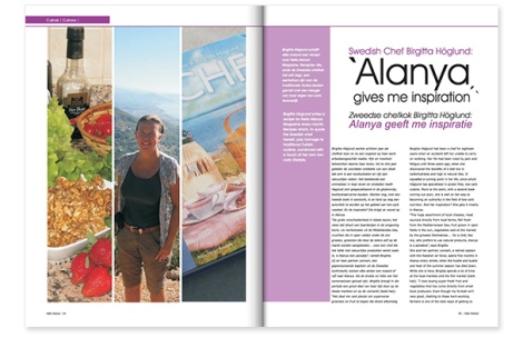 Under 2 år var jag matskribent i Hello Alanya Magazine