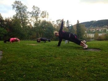 Lindha Vikström på träningspass