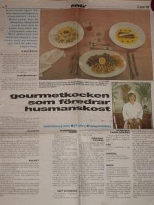 Från min tid som köksmästare på Kvarterskrogen i Östersund
