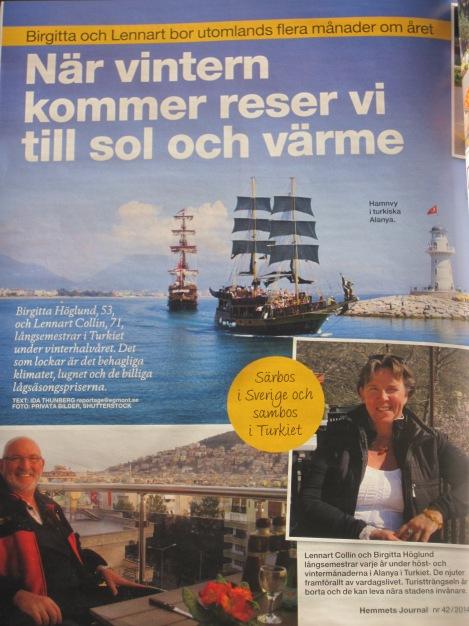Artikel om långsemester av Ida Thunberg i Hemmets Journal