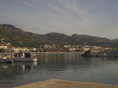 Fiskehamnen i Makrigialos