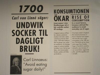 Bild från utställningen Socker på Nordiska Museet