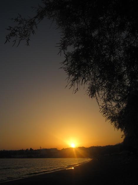 Makrigialos i solnedgång
