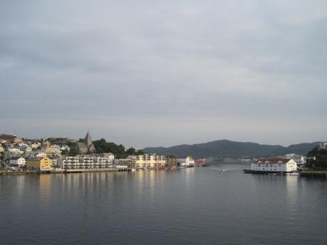 Ett av stoppen på Hurtigrutten