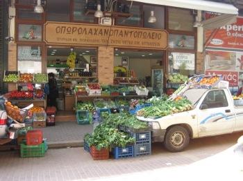 Grönsaksbutik i Chania