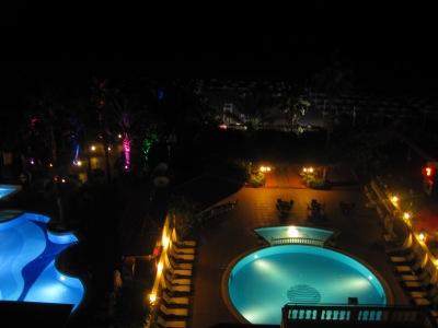 Kvällsutsikt från balkongen