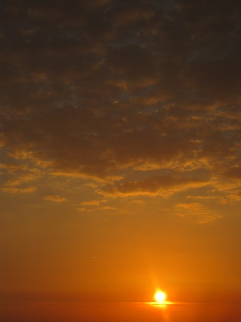 Söndagens solnedgång från balkongen