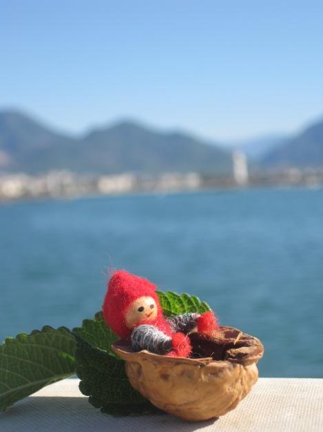 Tomten har anlänt till hamnen i Alanya för 24 dagars semester...